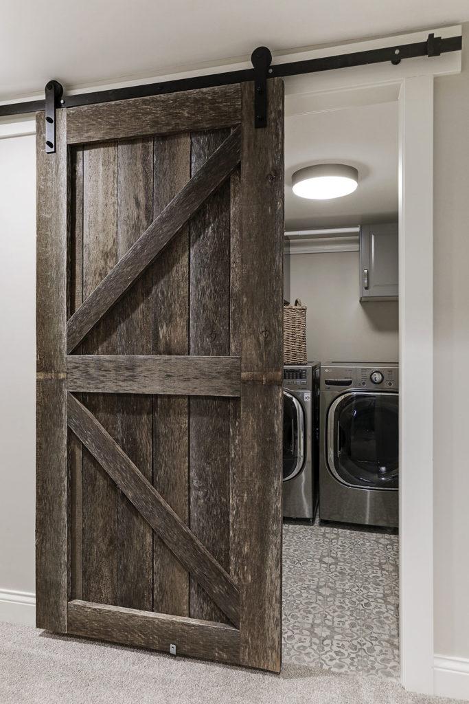 laundry room hidden barn door