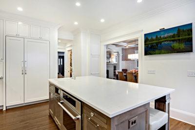 custom white kitchen center island Plymouth mn